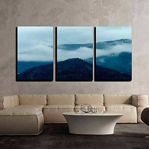 Winter Mountain Landscape Abstract x3 Panels
