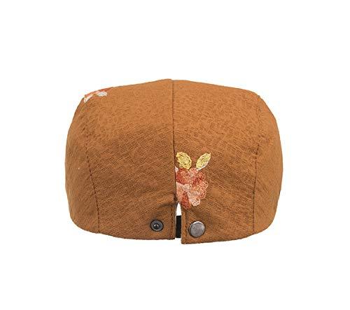 Sombrero Pato Sombrero GLLH de Bordado de qin Bere hat Informal F Sombreros de de Sombrero de Vintage Sombrero Vendedor periódicos E señoras Bwnrw7x0