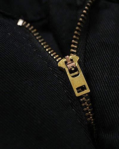 Con Gamba Uomo Giovane Elasticizzato Pantaloni Stretch Slim Jeans Fit Denim Da Lunghi In Nero Casual Dritta FWBY18