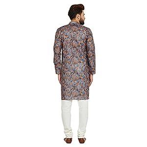 Sojanya (Since 1958) Men's Cotton Linen DIGITAL Print Kurta & Churidaar Pyjama