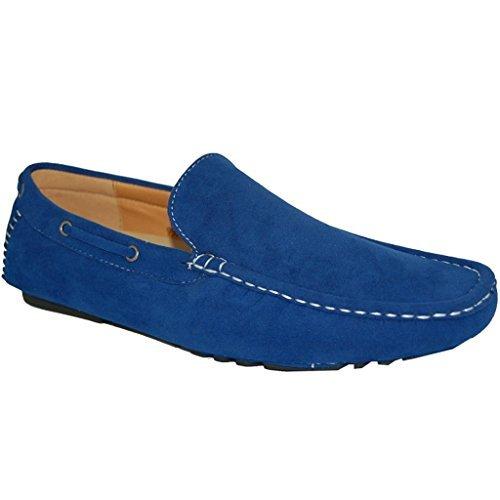 KRAZY SHOE ARTISTS My Blue Suede Look Shoes (10.5D US) (10.5D US)
