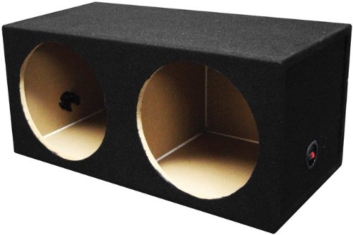 Q Power SOLO12 2HOLE Solo Series MDF Wood Carpeted Dual 12-Inch Unloaded Box