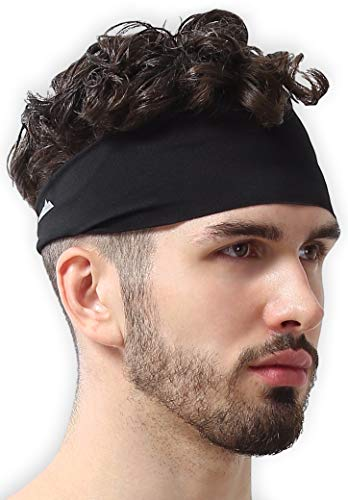Mens Headband - Running Sweat Head Bands for Sports - Athletic Sweatbands for Workout/Exercise, Tennis & Football - Ultimate Performance Stretch & Moisture Wicking (Headband Exercise Underarmour)