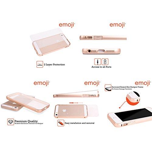 Officiel Emoji Étranger Appartement Or Étui Coque Aluminium Bumper Slider pour Apple iPhone 5 / 5s / SE