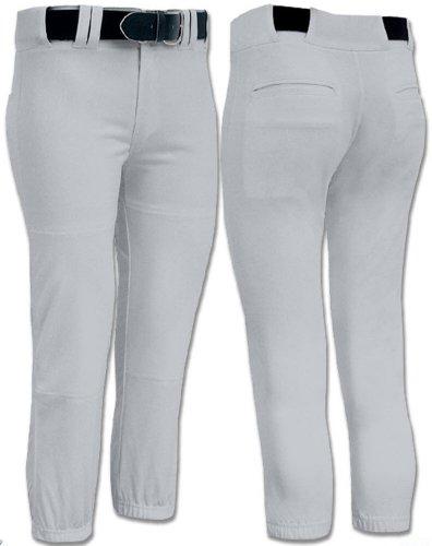 Joe's USA Girls Low Rise Fastpitch Softball Pants, X-Large-Grey