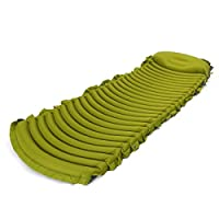 Holleyweb Ultralight Camping Air Mattress for Backpacking, Inflatable Sleeping Pad with Dry Bag (Green)