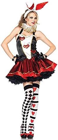 Conejo Alice para disfraz de mujer negro rojo blanco: Amazon.es ...