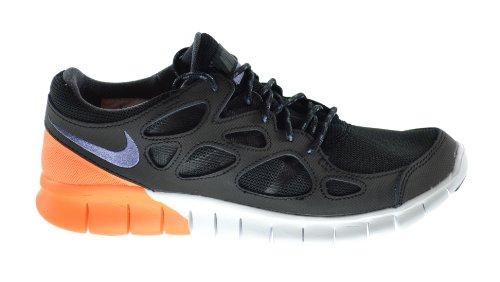 Nike Free Run 2 Men's Running Sneakers Black/Purple-White-Atomic Orange 537732-051 (13 D(M) US)
