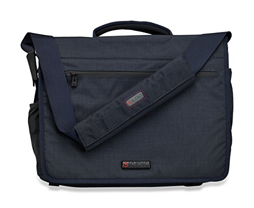ECBC Zeus Series Messenger Laptop and MacBook Bag, Lightweight and Durable Designed for Men and Woman - Ideal for Travel, School, Business and Sport - Blue