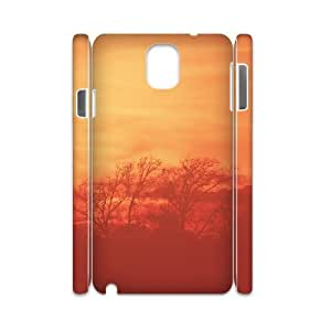 3D {Road & Highway Series} Samsung Galaxy Note 3 Case We Will Walk Where the Road Meets the Sun, Case Dustin - White