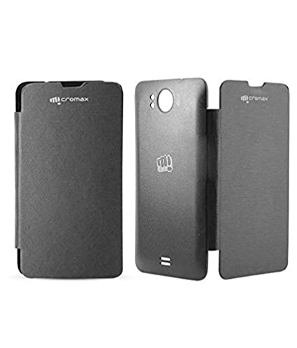 buy popular 7594f 7f30b RRTBZ Flip Cover Case -Black for Micromax Canvas Doodle: Amazon.in ...