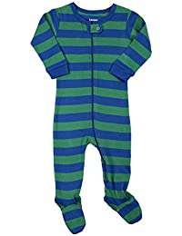 """Footed """"Striped Baby Boy"""" Pajama Sleeper 100% Cotton (Size 6 Months-5 Toddler)"""