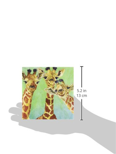 Paperproducts Design PPD 1252725 Giraffe Amigos Beverage/Cocktail Paper Napkins,5''x5'', Multicolor by Paperproducts Design (Image #1)