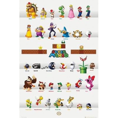 Nintendo - Super Mario Characters Video Game Poster