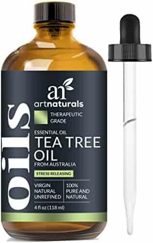 ArtNaturals 100% Pure Tea Tree Essential Oil - (4 Fl Oz / 120ml) - Natural Premium Melaleuca Therapeutic Grade - Great with Soap and Shampoo, Face and Body Wash - Treatment for Acne, Lice