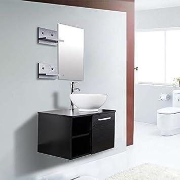 Elecwish Inch WallMount Vanity Cabinet Round Ceramic Vessel - Wall hung vanity cabinets