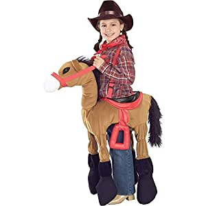 Ride 'Em Brown Horse Kids Costume - One Size
