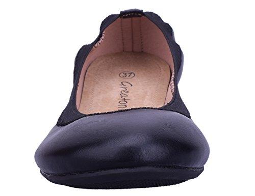 Ballerine Greatonu Greatonu Black Black Greatonu Ballerine Donna Ballerine Donna wT4ptB