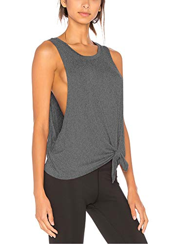 - Bestisun Active Tanks for Women Casual Classic Color Block Comfortable Cool Dri Loose Fitting Muscle Lady Tank Top Racer Back Workout Clothes Heather Gray M