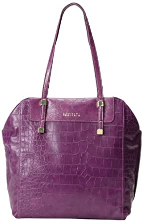 Kenneth Cole Reaction Stack Exchange Shopper - Croco K00782 Travel Tote,Aubergine,One Size