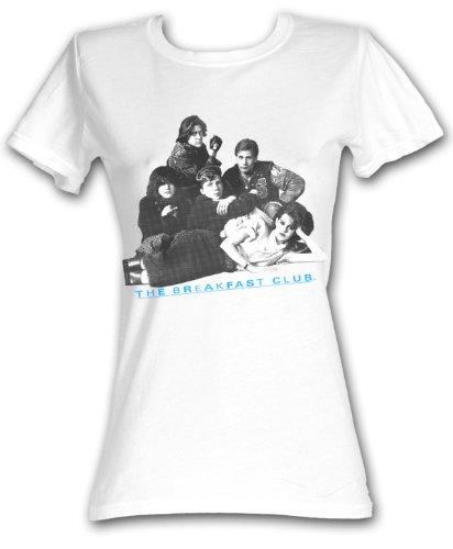 The Breakfast Club Juniors T-Shirt BFC Group Shot White Tee Shirt, Medium