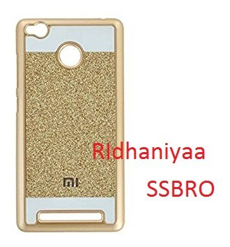 pretty nice 06d35 c4f61 RIdhaniyaa [Redmi 3S Prime] Glittering Sparkle Hard Back Cover -  (Gold,Transparent)