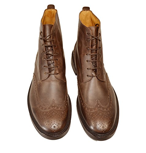 Alfonso, Mannen Lace Up Brogues Donkerbruin