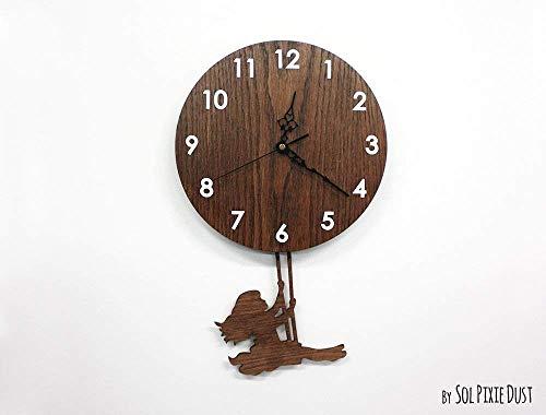 Girl Swinging on Wood – Pendulum Wall Clock