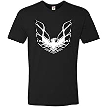 Go All Out Screenprinting XXXX-Large Black Adult Pontiac Firebird Logo GTA Trans-Am Retro Deluxe T-Shirt