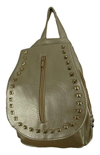 Einkaufszauber - Bolso mochila  para mujer dorado dorado