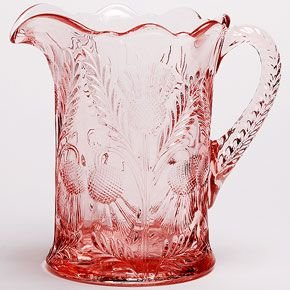 Thistle Inverted - Pitcher - Inverted Thistle - Mosser Glass USA (Rose Pink)