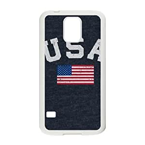 Samsung Galaxy S5 Cell Phone Case White USA with American Flag D5Z1XQ