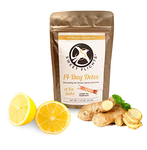 Gentle Detox Tea 14 Day Sweet Flights Herbal Cleanse Tea Supplement for Digestion - Release Toxins - Boost Metabolism- Colon Cleanse Relief