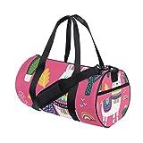 Llama Women's Duffel Bag Travel Tote Luggage Bag Gym Sports Luggage Bag