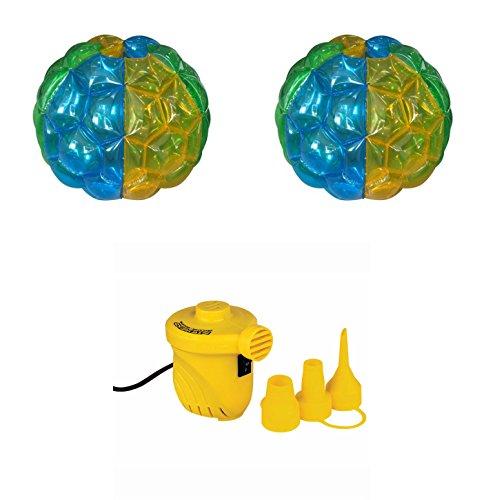 3.5' Bumper Balls Set: 2 Balls + High Volume 12V Air Pump by Medal Sports