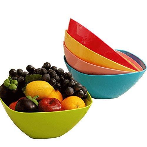 ヨーロッパのプラスチックフルーツプレート、フルーツバスケット、メロンフルーツプレートセット、5つだけ (色 : Five Only)  Five Only B07QYRD7VP