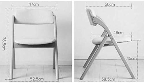 Hêtre Chaise De Pliage Étanche En Cuir PU Dosseret Chaise À Manger Chaise Bureau Ordinateur Tabouret Portable Et Durable