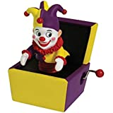 Jack in the Box Musical Hand Crank with Purple/Yellow Jester Figure