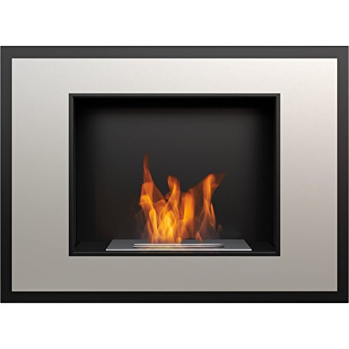Domadeco Atlanta satin mounted bioethanol fireplace modern style fireplace/contemporary ethanol fireplace (Gel Silver Mount Contemporary Wall)