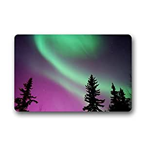 Wewin The Definitive Travelers Guide To The Northern Lights Non-woven Fabric Doormat Indoor 18 x 30inch