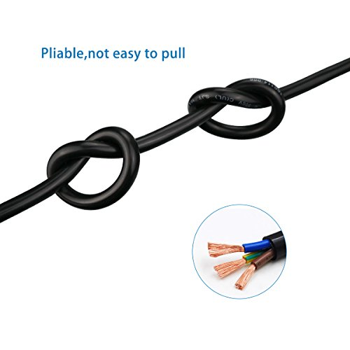ClearMax 25 Feet 3 Prong Power Extension Cord - Cable Strip Outlet Saver - 16AWG - 25' - Black by ClearMax (Image #3)