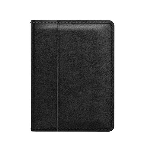 - Nomad Wallet with Integrated Tile Tracker | Black Horween Leather