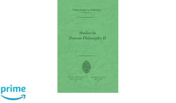studies in process philosophy ii whittemore r c