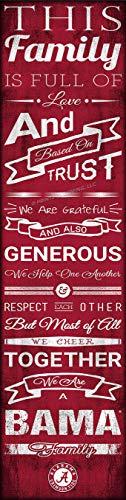 - Alabama Crimson Tide Wall Poster, Family Unframed Print Decor 6
