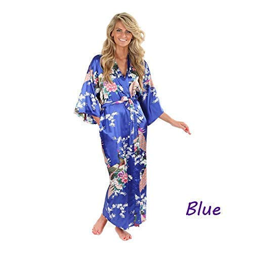 3aca153c88 Amazon.com  Silk Bathrobe Women Kimono Robes For Women Floral Robes Long  Kimono Robe Dressing Grown S014  Handmade