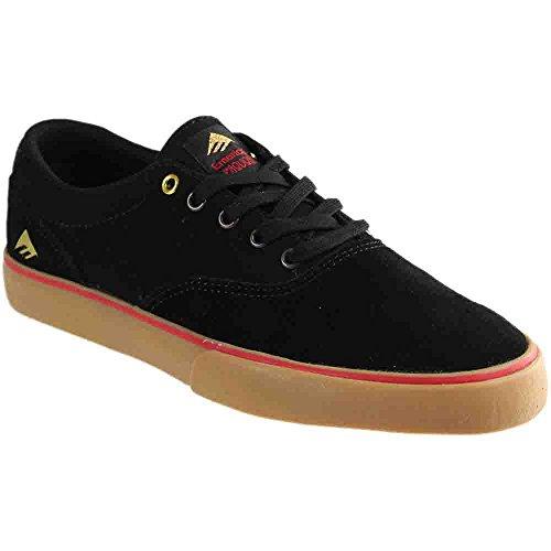 Emerica Provost Slim Vulc Skate Shoe,Black/Gum,6 M US