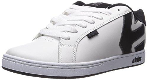 New Etnies Skateboarding Shoes - Etnies Men's Fader Skate Shoe, White/Dark Grey, 11 D US