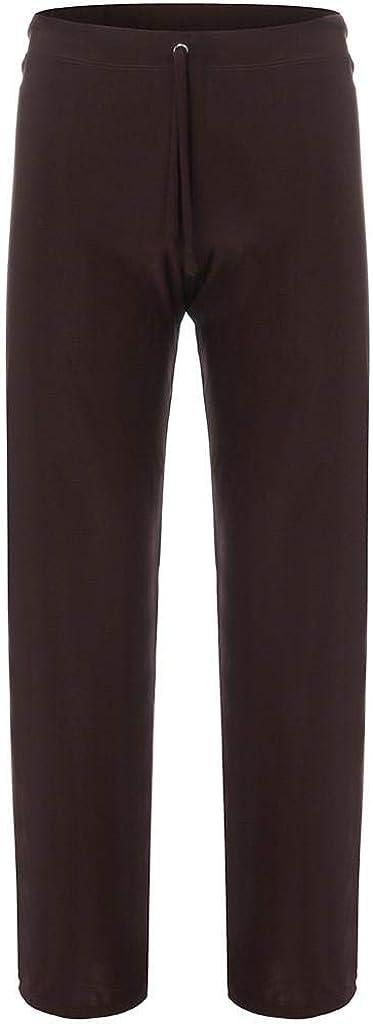 REYO Mens Fashion Home Pants Loose-Fitting Sport Yoga Pants Tie-up Comfortable Trousers Sweatpants