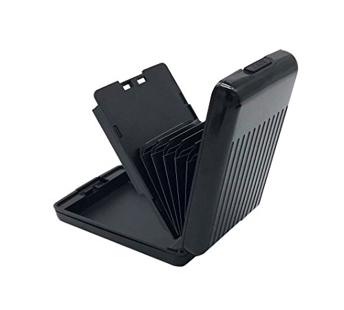 ANSSOW RFID Blocking Card Holder Case for Men and Women, Safe and Secure Protection for Travel or Business, Includes slots for credit cards and driver license, Slim Aluminum Metal Wallet