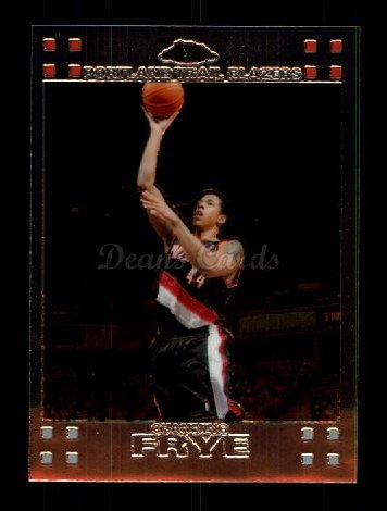 2007 Topps Chrome # 67 Channing Frye Portland Trail Blazers (Basketball Card) Dean's Cards 8 - NM/MT
